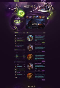 Metin2 Bless Game Website Template