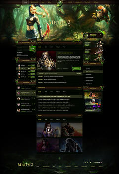 Metin2 Forest Game Website Template