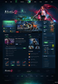 Metin2 Fusion Game Website Template