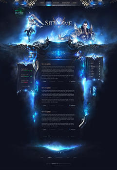 Metin 2 Ice World Game Website Template