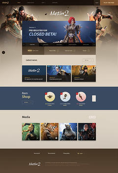 Metin2 Private Server Game Website Template